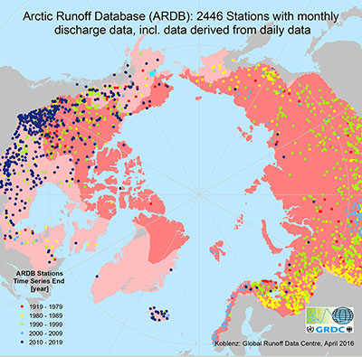 map of arctic stations