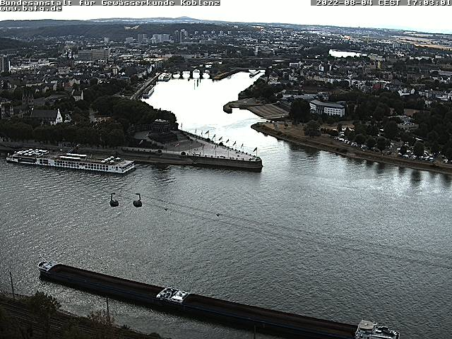 Rhein und Mosel am Deutschen Eck in Koblenz