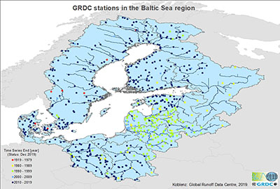 map of stations in the Baltic Sea region