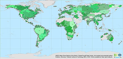 GRDC Major River Basins of the World, 2nd, rev. ext. edition (GRDC, 2020)